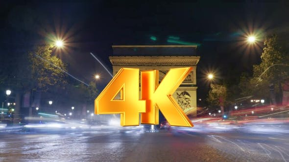 Thumbnail for Of Night Traffic Near Triumphal Arch