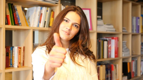 Thumbnail for Thumbs Up by Young Girl