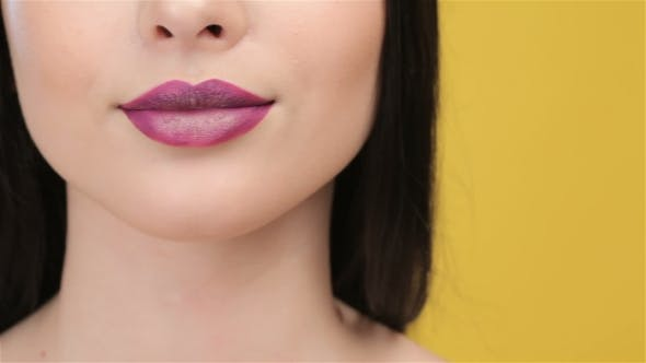 Thumbnail for Of Smilling Girl With Plum Lips