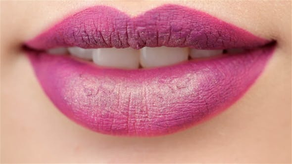 Thumbnail for Slightly Opened Mouth With Plum Lips