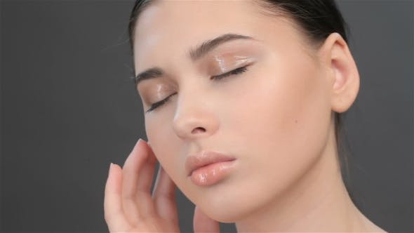 Thumbnail for Of Brunette Girl With Closed Eyes