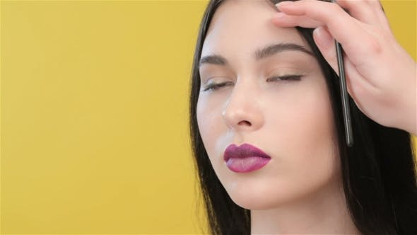 Thumbnail for Of Visagist Preparing Girl For Makeup