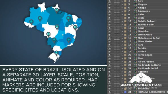 Thumbnail for Brazil Map Kit