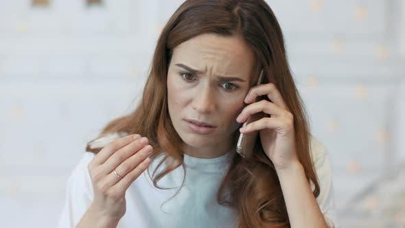 Thumbnail for Upset Wife Having Talk on Mobile