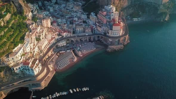 Cover Image for Atrani Aerial By Dawn, Amalfi Coast