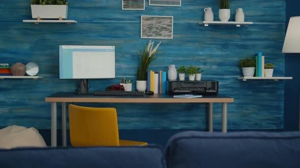 Interior of Elegant Bright Living Room