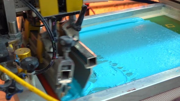 Thumbnail for Textile Industrial Silk Screen Printing Machine In Action