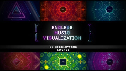 Thumbnail for Endless Music Visualization 4K Footages