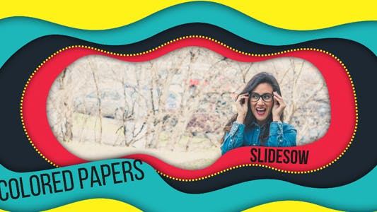 Thumbnail for Colored Papers Slideshow