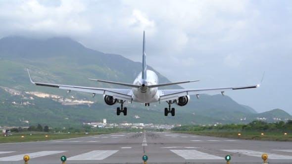 Landing Plane Rear View