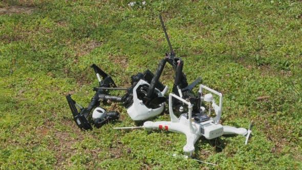 Thumbnail for Drone UAV Collision Crash
