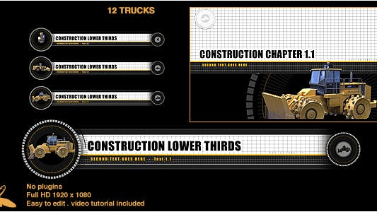 Thumbnail for Construction Lower Thirds & Chapter Titles
