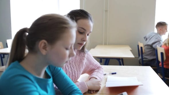 Thumbnail for Students With Smartphone On Lesson At School 12