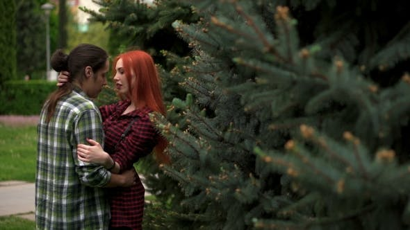 Thumbnail for Happy Couple In Love Among Spruces