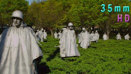 Washington DC Korean War Veterans Memorial Soldiers Park 02