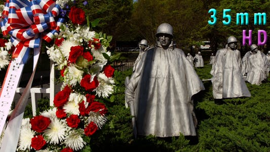 Washington DC Korean War Veterans Memorial Soldiers Park 03