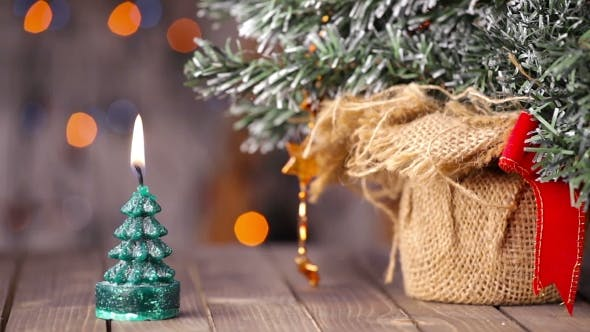 Thumbnail for Candle Light, Romantic Background For New Year, Christmas