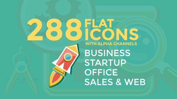 Thumbnail for Business & Startup Flat Icons