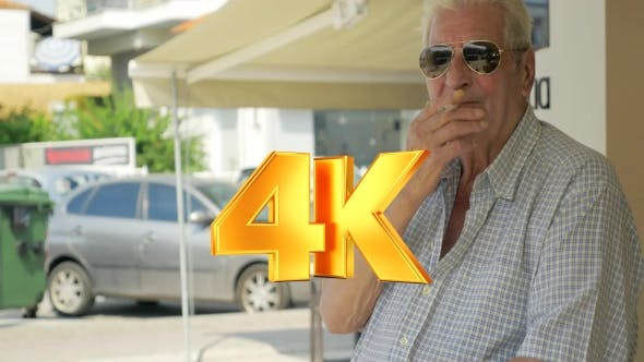Thumbnail for Smoking Senior Man In The Street