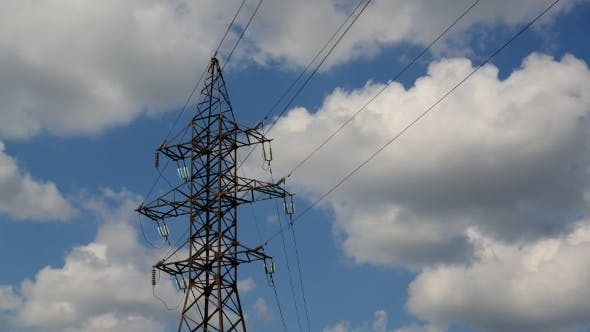 Thumbnail for High-voltage Power Line on Sky Background