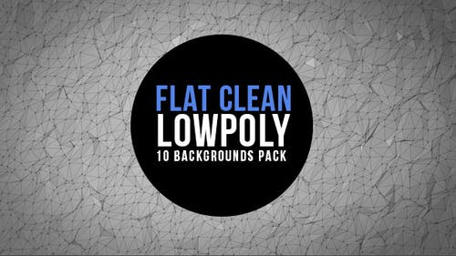 Clean and Flat Lowpoly Background Pack