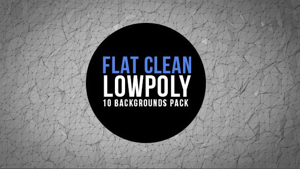 Thumbnail for Clean and Flat Lowpoly Background Pack