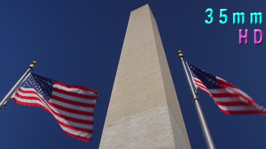 Thumbnail for Flags Wave In Front Of The Washington Monument In DC 20