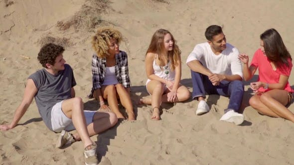 Thumbnail for Happy Young Multiracial Friends On a Beach
