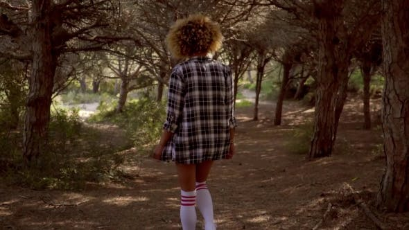 Thumbnail for Sexy Young Woman In Knee-highs Walking