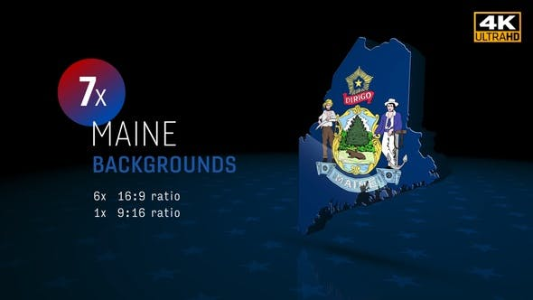 Maine State Election Backgrounds 4K - 7 pack