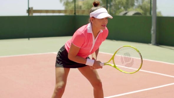 Thumbnail for Athletic Shapely Woman Playing a Game Of Tennis