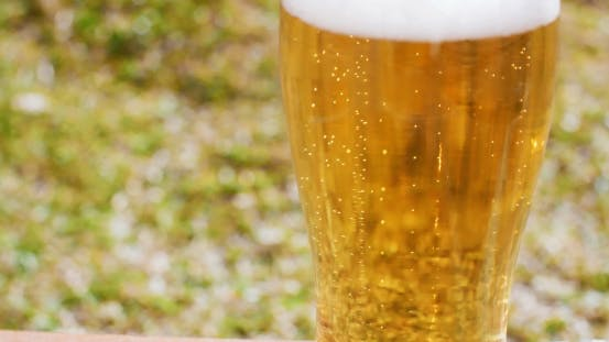 Refreshing Ice Cold Beer Or Lager