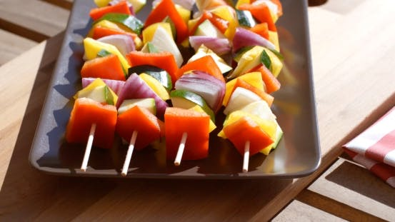 Thumbnail for Vegetable Kebabs With Assorted Fresh Vegetables