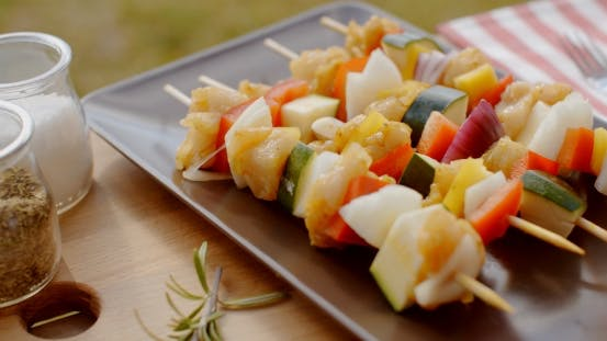 Thumbnail for Vegetable Shish Kebap On Plate