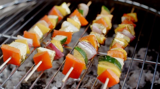 Thumbnail for Delicious Vegetable Kabobs On Grill