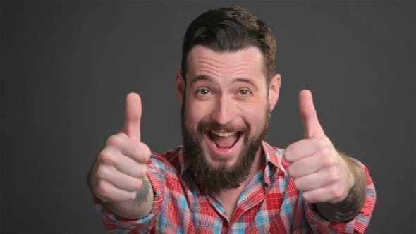 Thumbnail for Bearded Guy Expresses Great Delight