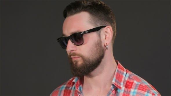 Thumbnail for Bearded Guy Chews Gum