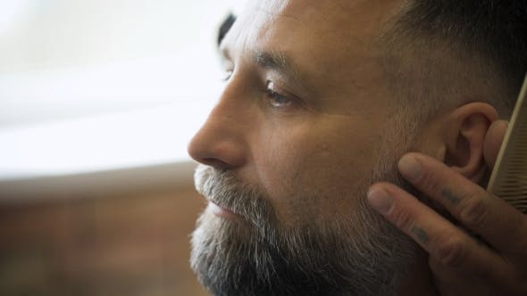 Thumbnail for Stylish Hair Salon, Barber Empozantny Engaged Beard Respectable Businessman.
