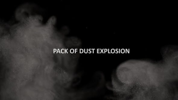 Thumbnail for Pack of Dust Explosion on a Black Background