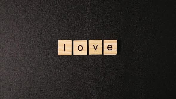 Thumbnail for Love Word On A Wooden Blocks