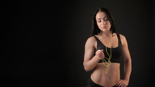 Thumbnail for Fitness Woman Listens To Music