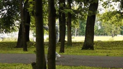 Runner Boxer in Park