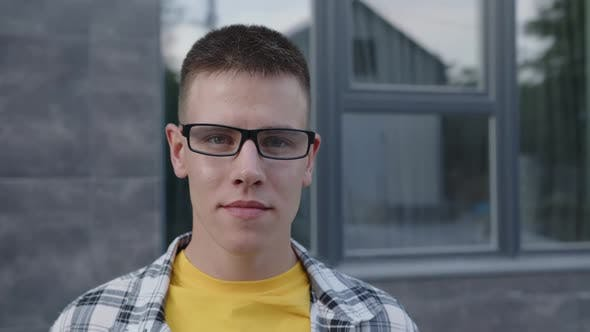 Man is Talking to the Camera