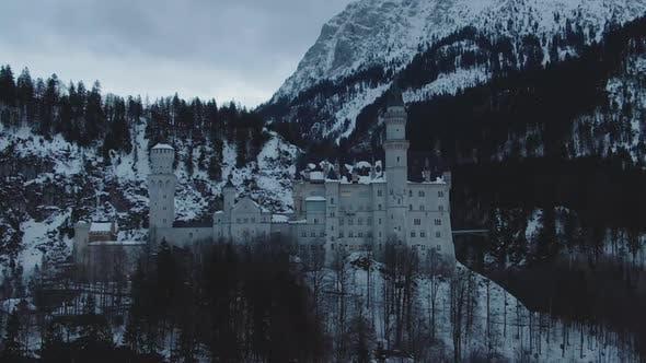 Thumbnail for Neuschwanstein Castle in Winter Day. Bavarian Alps