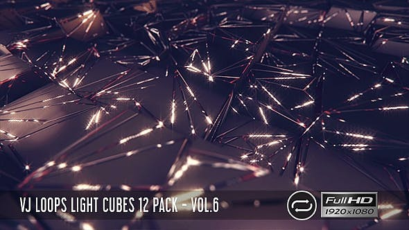 Thumbnail for VJ Loops Light Cubes Vol.6 - 12 Pack