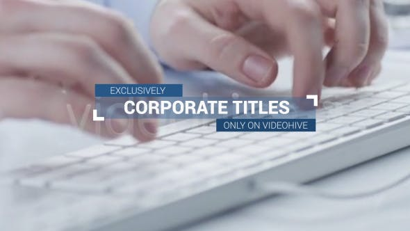 Thumbnail for Corporate Titles and Lower Thirds Plus