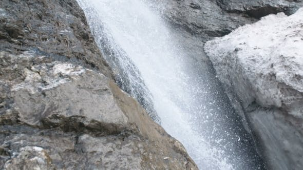 Thumbnail for Pure Fresh Water Waterfall In Forest In The Mountains
