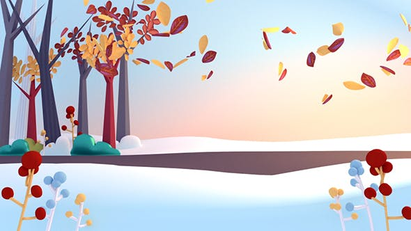 Thumbnail for Cartoon Falling Autumn Leaves