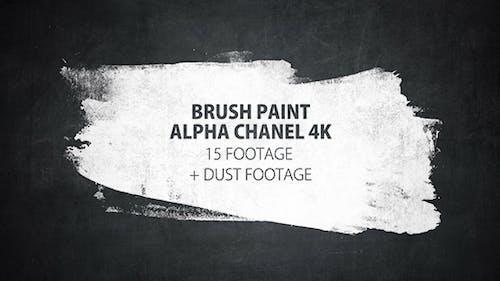 16 Paint Brush Stroke Transitions Reveal Pack Matte/ Oil Art Dust Ink Grunge Texture/ Chalk Board