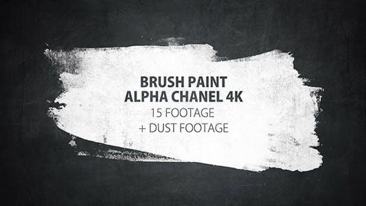 Thumbnail for 16 Paint Brush Stroke Transitions Reveal Pack Matte/ Oil Art Dust Ink Grunge Texture/ Chalk Board